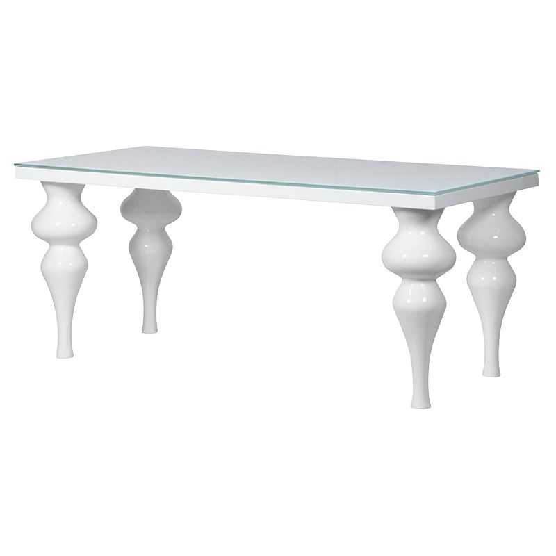 Small White High Gloss Dining Table