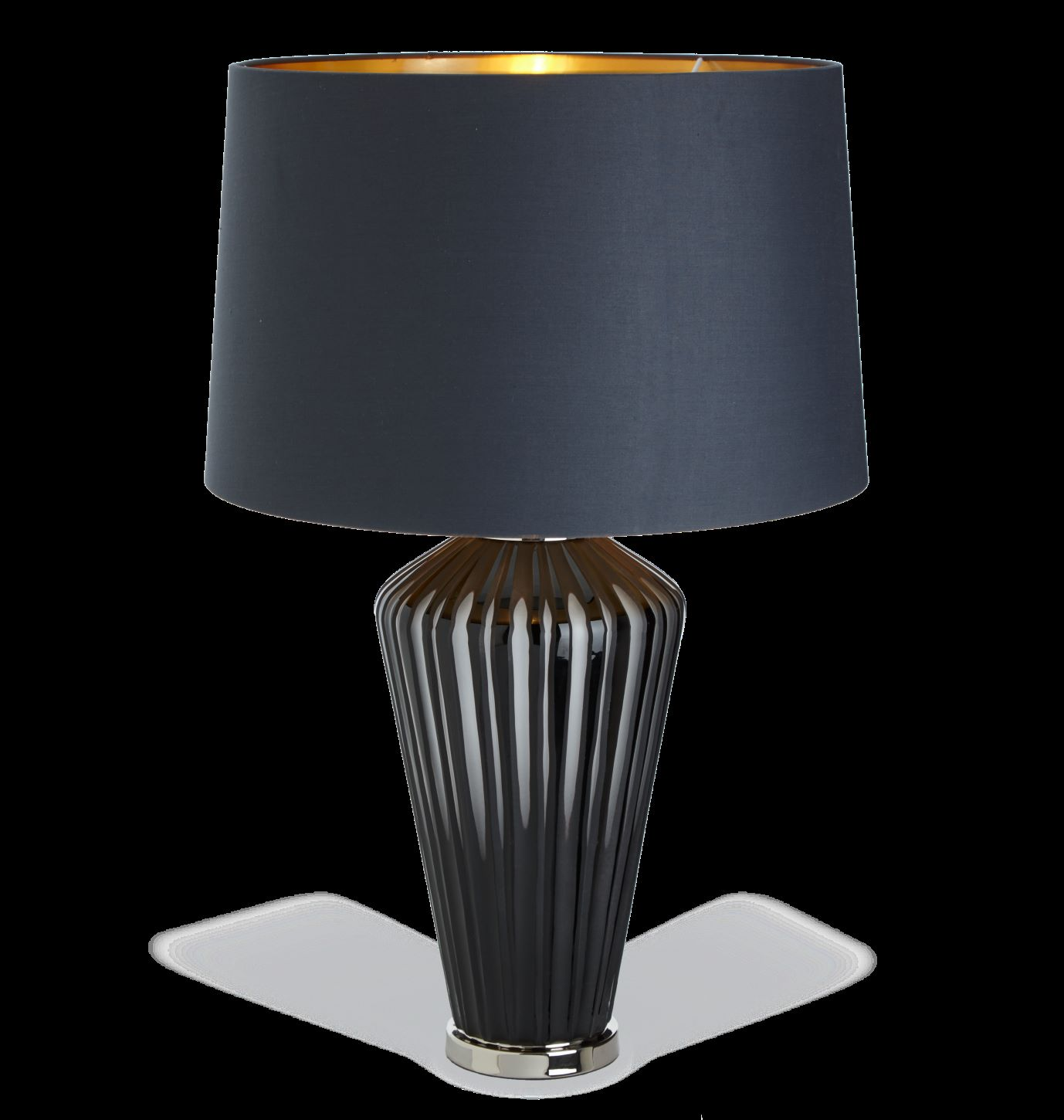 Grey Glass Table Lamp Base Only Wbr Interiors