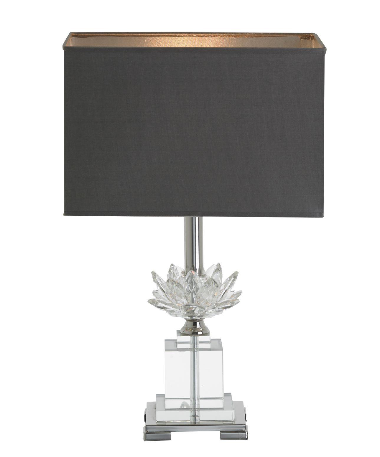 Crystal Lotus Flower Table Lamp Wbr Interiors