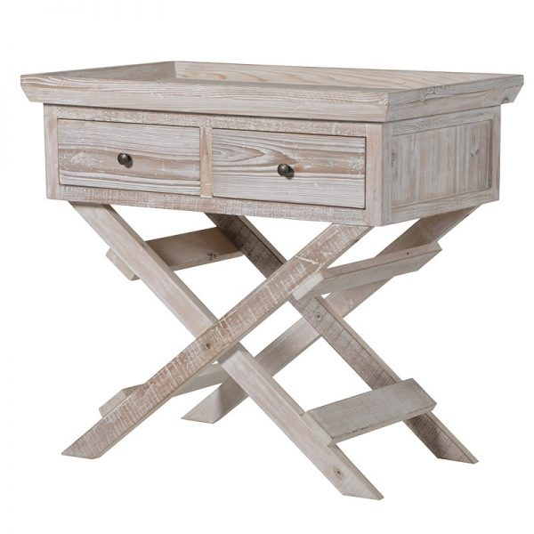 Delicieux 2 Drawer Trestle Hall Table